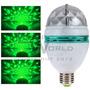 Lámpara Led Verde Giratoria, Bola De Luces Audioritmicas, Dj