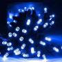 Luces De Navidad A Energía Solar 50 Leds Blanco Frío 5 M