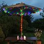 Luz Multicolor X 200 Led Solar 20mts Sin Cables Ni Enchufe