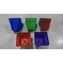Maceta De Colores Cuadrada Cm6 X Cm5.5