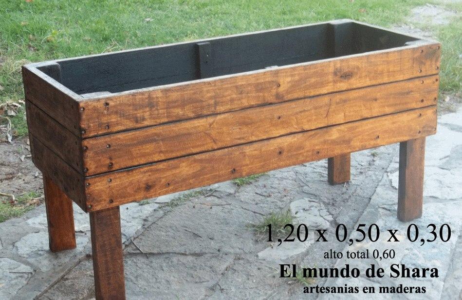 Macetas De Madera Para Exterior. Simple Mesa Madera Clara With ...