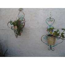 Maceteros De Hierro Vintage ( El Par)