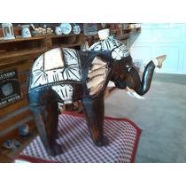 Elefante Hindù Tallado En Madera