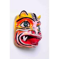 Mascara De Tigre De Madera. Tradicional, Artesanía Mexicana