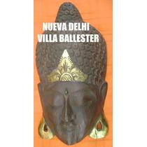 Máscara De Madera De Buda 60 Cm