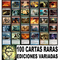 Magic: 100 Cartas Raras De Ediciones Variadas Nmint!!!