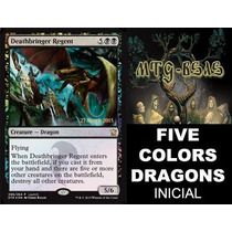 Mazo Magic Inicial: Five Colors Dragons Incluye 1 Rara Promo