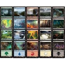 Cartas Magic: 100 Tierras Basicas Ediciones Variadas Nmint!!