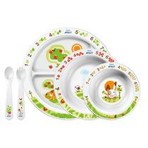 Set De Alimentacion Bebe Avent Platos Cubiertos +6 M