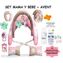 Kit Avent + Almohada Amamamantar Gym Y Mas!!!13 Productos!!!