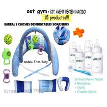 Avent Set Recien Nacido+set Gym Mama Bebe.15 Productos!!!