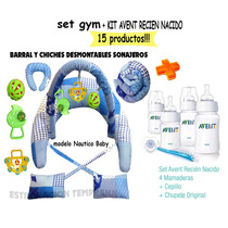 Avent Set Recien Nacido+set Gym Mama Bebe.15 Productos!!!