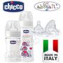 Chicco Pack Mamaderas Vidrio 150ml + 240ml + Tetinas 4 Meses