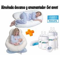 Almohada Multifuncion,lumbar,descanso+set Avent+cervical!!