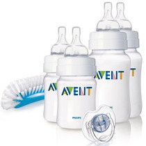 Philips Avent Set Recien Nacido 4 Mamaderas + Chupete. Bebes