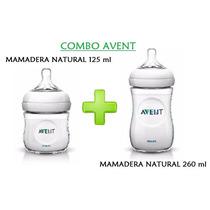 Combo Mamaderas Avent Natural 125ml/ 260 Ml Nimocabebes