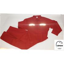 Overol Mameluco Rojo Con Reflectivos - Linco -