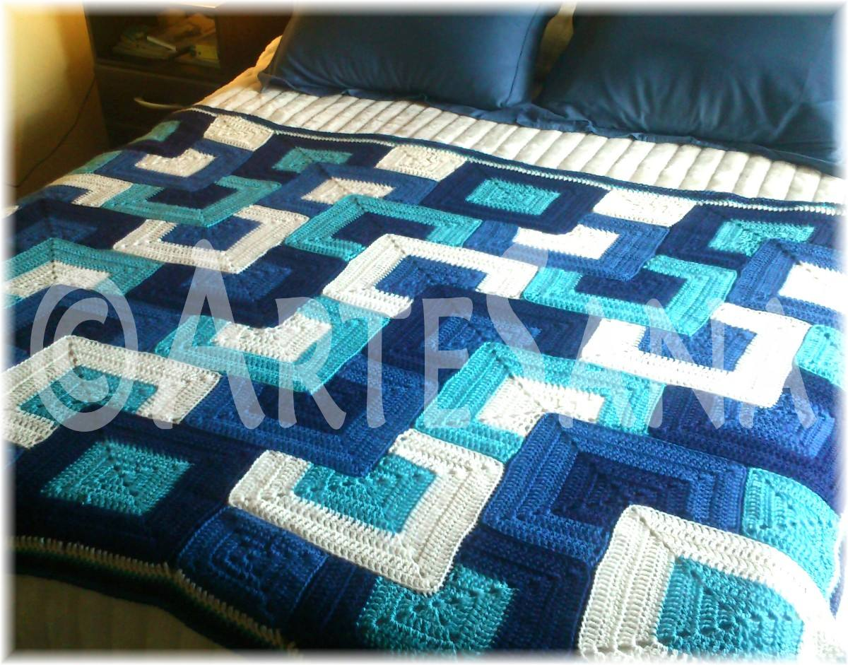 Mantas tejidas al crochet imagui - Mantas a crochet ...