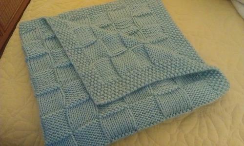 Como tejer con dos agujas una manta para bebe - Mantas de punto a dos agujas ...