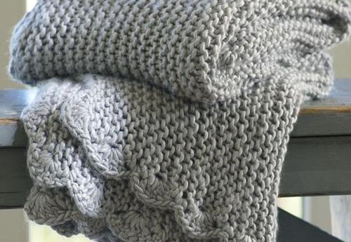 Dos agujas manta beb imagui for Mantas de lana hechas a mano