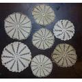 7 Carpetas De Hilo Tejidas Al Crochet Antiguas