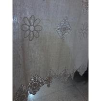 Visilo Rústico 1 Paño 60x130 Cm C/terminacion En Crochet