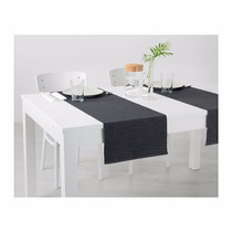 Ikea - Camino Para Mesa Märit 80% Algodón - Negro 1,30x0,35