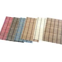 Set De Indivinduales De Bambu En Varios Colores X12 Unidades