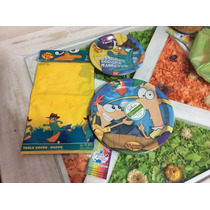 Set De Phineas Y Ferb, Cotillon Importado.