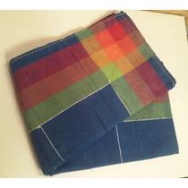 Mantel Tela Escoces 140x180cm Azul Y Rojo, Moderno Bazar