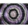 Posa Pava Al Crochet Sin Uso Negro Lila Y Rosa