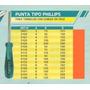 Destornillador Punta Tipo Phillips Art3115 Power Celestal
