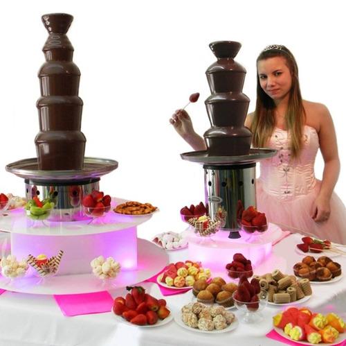 Maquina Cascada De Chocolate Grande Candy Para Mesa Dulce