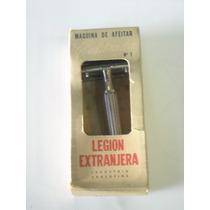 Antigua Maquina De Afeitar Legion Extranjera Sin Uso