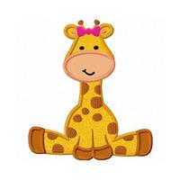 Diseño, Matriz Para Máquina De Bordar Girafa Nena Aplique