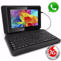 Tablet Pc 7 Celular Liberado 3g Bluetooth Funda + Teclado