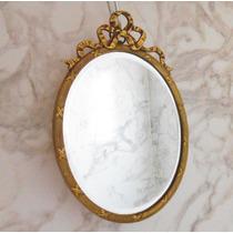 Porta Retrato Marco Bronce Frances Espejo Biselado Luis Xvi