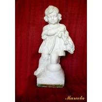 Estatua Figura Marmol De Carrara - Mas De 100 Años