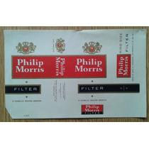 Marquilla Philip Morris Nuevo Sin Uso Decada Del 60
