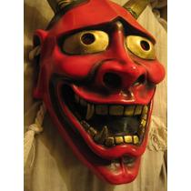 Mascara De Teatro Noh, Hannya, Rigida, Japon Estilo Antiguo