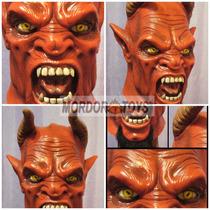 Diablo Máscara De Látex Satanas Devil Halloween Mordortoys