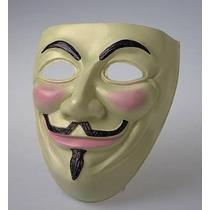 Mascara Plástica V De Vendetta Careta De Anonimus