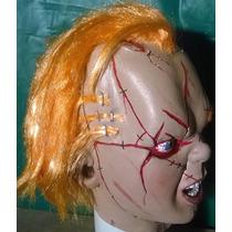 Chuky Muñeco Maldito Mascara De Latex Disfraz Haloween