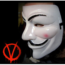Mascara Guyfawkes Anonymous Para Disfraz, Adorno, Teatro