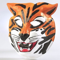 Careta Plástica De Tigre