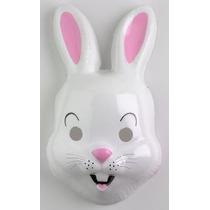 Careta Plástica Conejo - Mascara Animales Accesorio Disfraz