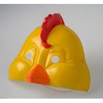 Careta Plástica Pollito - Mascara De Pollito Lito
