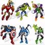 Iron Man,hulk Y Capit. America.con Piezas Intercamb.la Plata