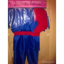 Disfraz Completo De Duende Azul