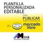 Plantilla Editable Para Mercadolibre - Diseño Personalizado